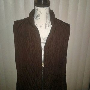 Croft & Barrow Light, Quilted Puffer Vest Sz L